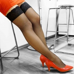 EDI elastic self-holding mesh stockings