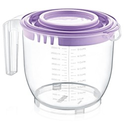 Plastic measuring cup with lid for mixer 2200 ml