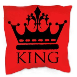 KING pillow 40 x 40 cm red