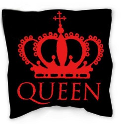 QUEEN pillow 40 x 40 cm red