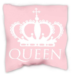 QUEEN pillow 40 x 40 cm pink