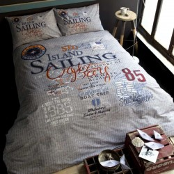 SAILING cotton bedding with children's motif Issimo Home