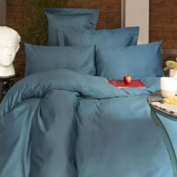 BLUE satin bedding Issimo Home