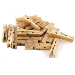 Bamboo clothes pegs 20 pcs
