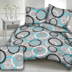 CORAL cotton bedding - turquoise